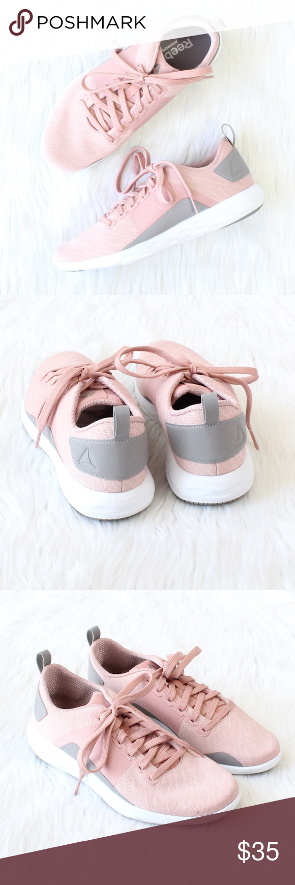 68e0a3b669c REEBOK Astroride Soul Walking Shoes in Chalk Pink Brand new without box!  Size  8