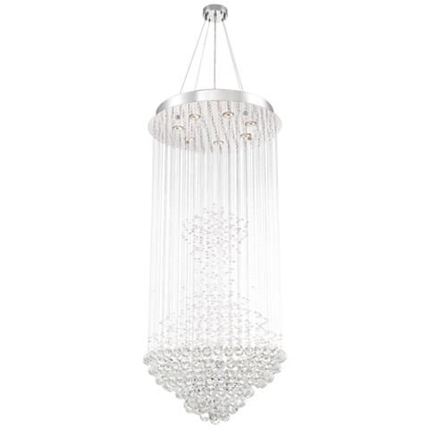 Cita 25 wide chrome and crystal 7 light chandelier