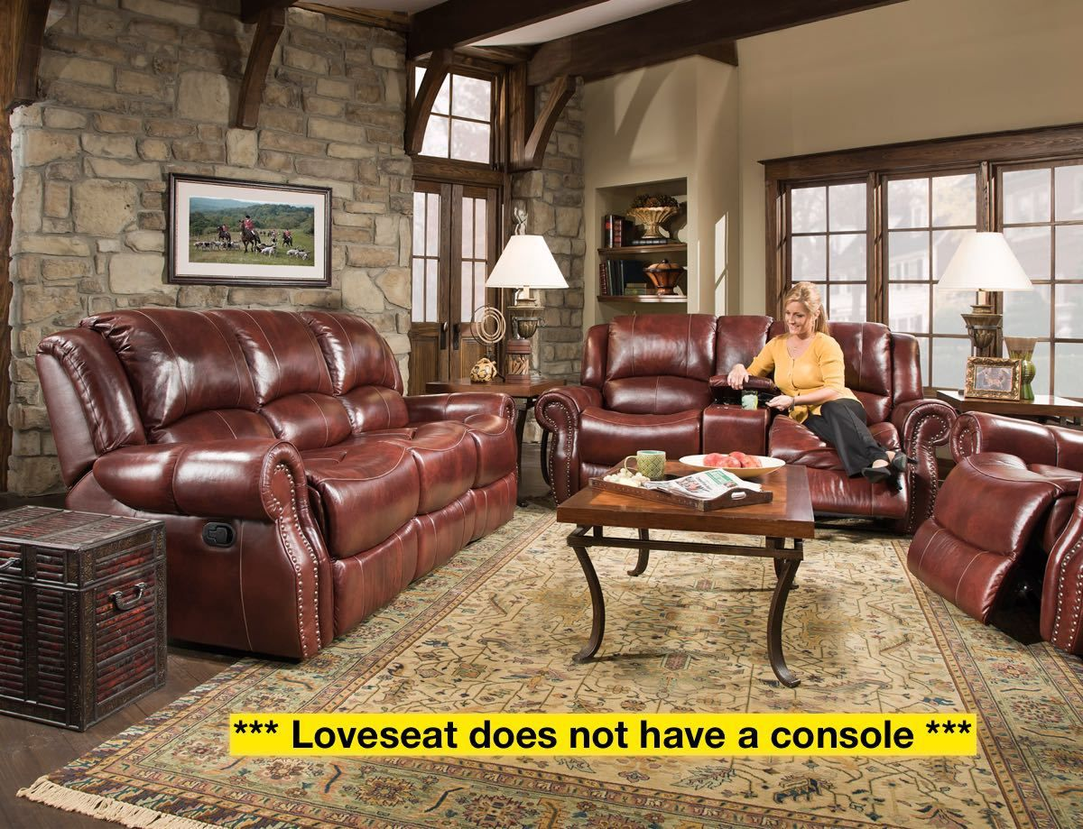 Corinthian Softie Oxblood Reclining Sofa Collection