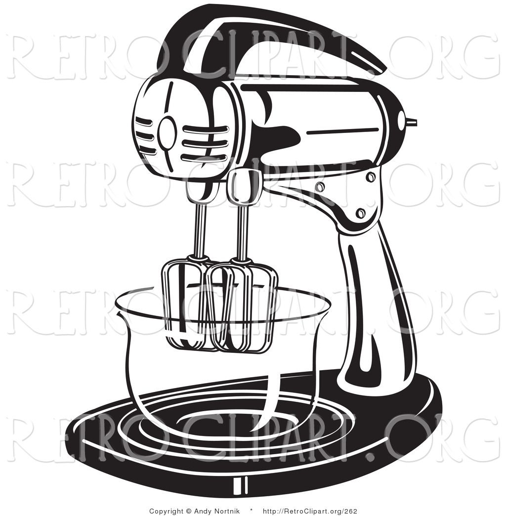 Free Printable Kitchen Clip Art | Retro Clipart of an Electric Stand ...