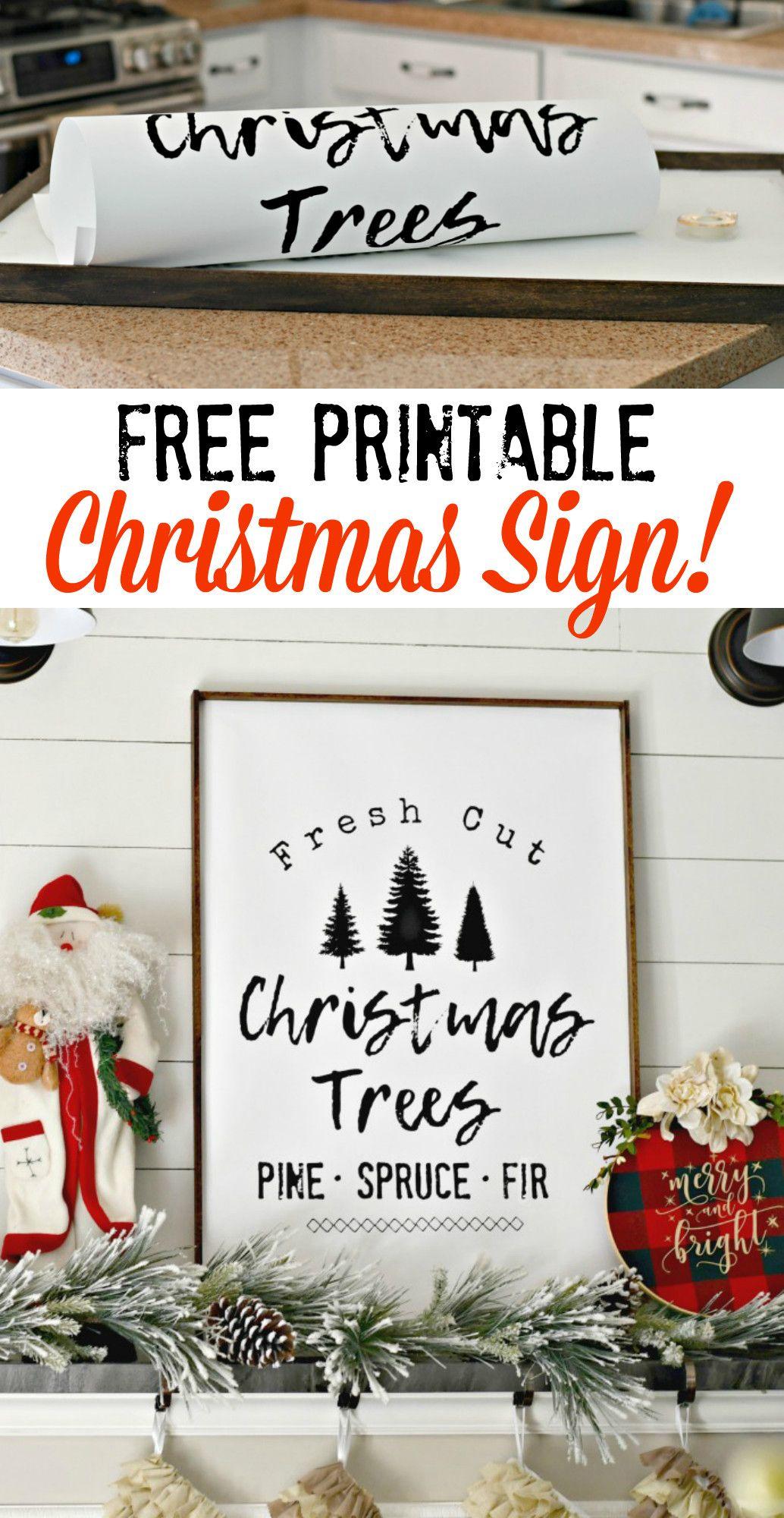 Diy Farmhouse Style Christmas Tree Sign Free Printable Idea Christmas Signs Diy Farmhouse Christmas Ornaments Farmhouse Style Christmas
