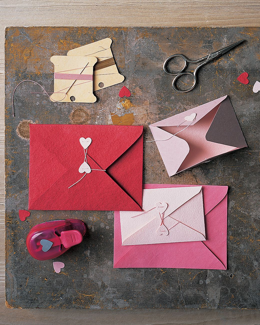 Colored card stock and envelopes - Craft