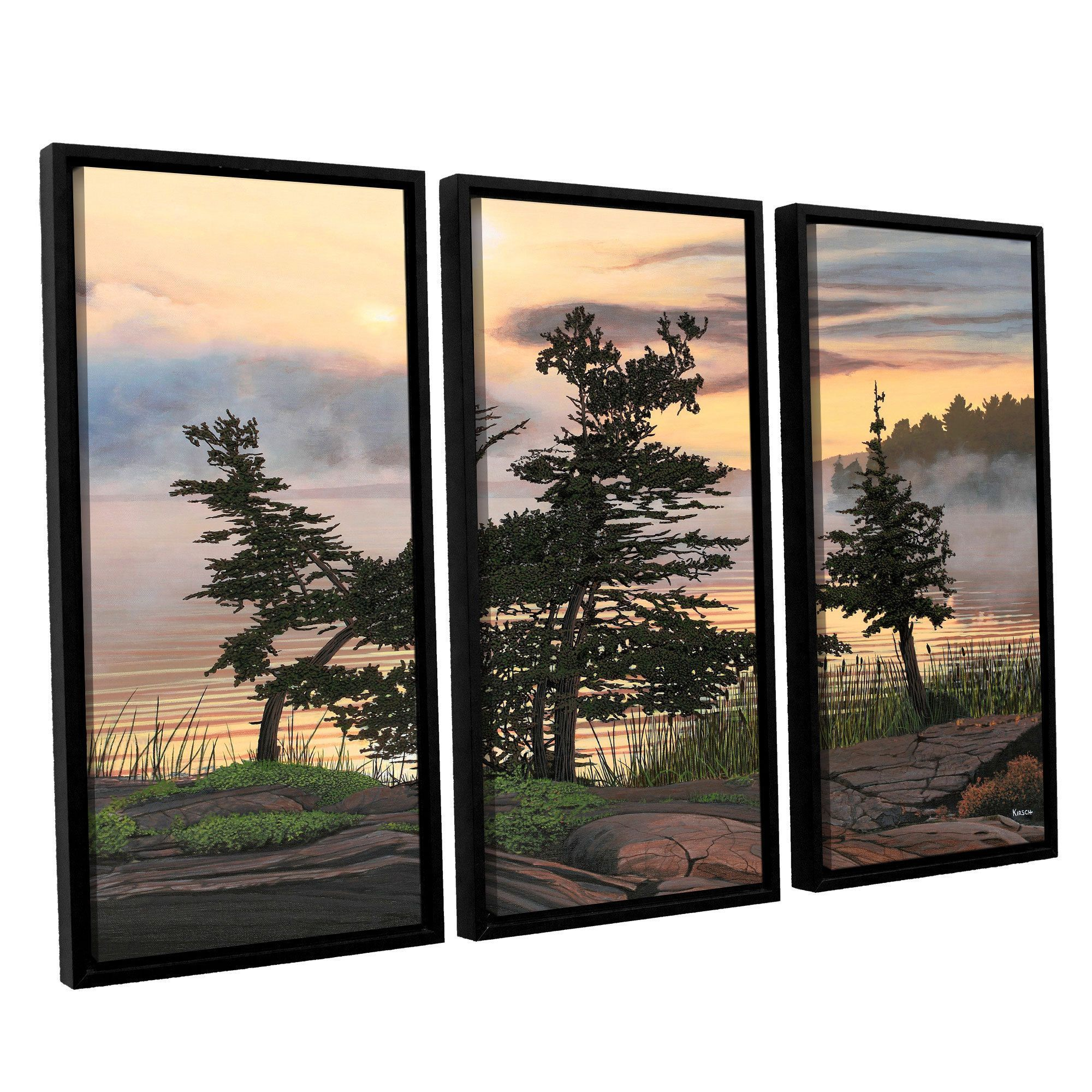 Artwall ken kirsh uauburn eveningu piece floater framed canvas set