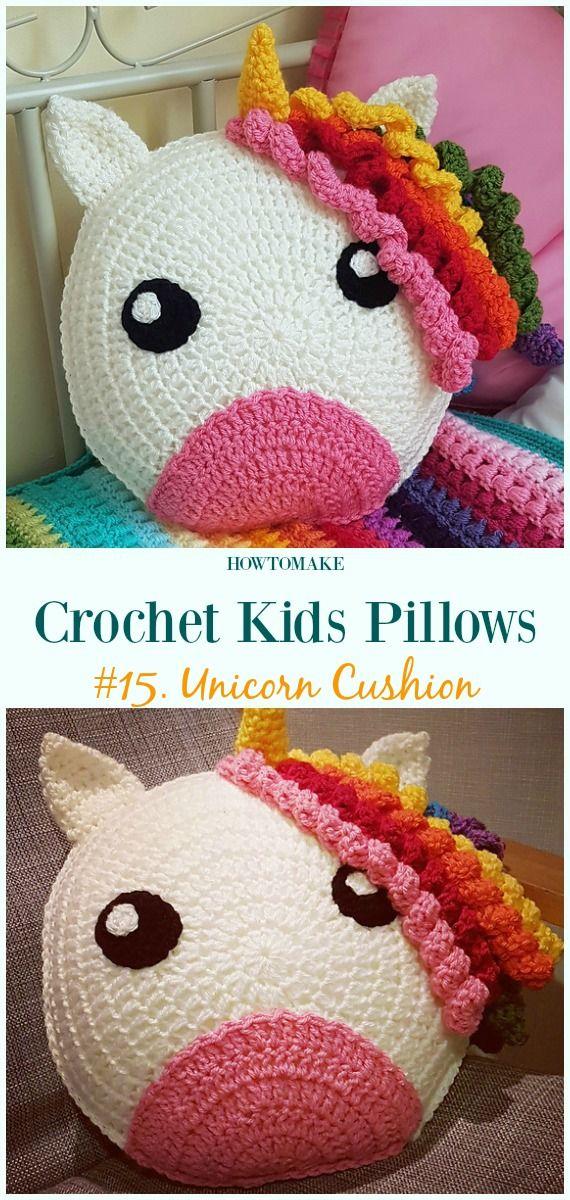 Fun Crochet Kids Pillows Free Patterns Crochet Patterns