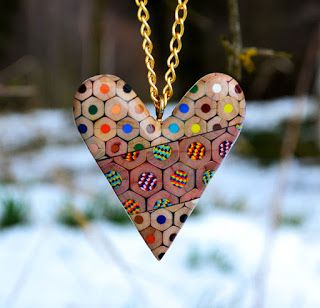 Jewelry Made From Coloured Pencils By Czech Artist ! | GeekyWeby
