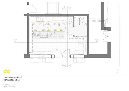 Laboratorio Espresso Floor Plan Floor Plans Book Cafe Coffee Shop Counter
