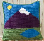 Crochet 1-2-3: Since this magazine has folded, you may want to be sure to pick up any of the free patterns you like as soon as possible. mountainscape pillow