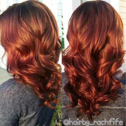 Gorgeous Rich Red Copper Brown Created Using Redken Chromatics