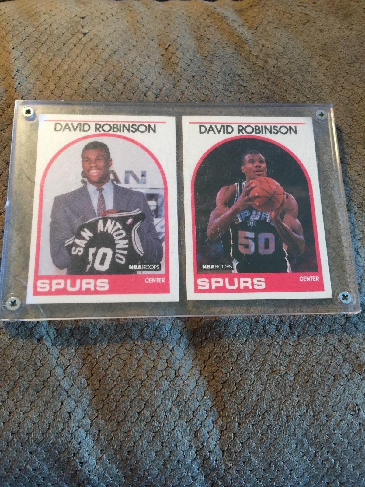 2 david robinson rookie cards david robinson basketball