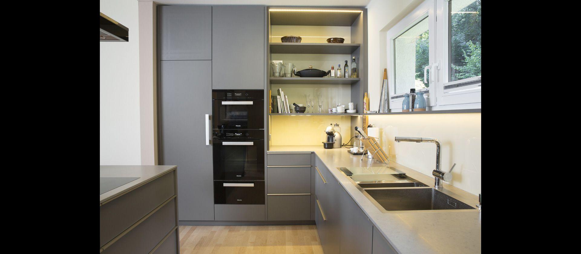 1 rk küchendesign mtbküche in beschichtung grau  küchen design  pinterest  mtb