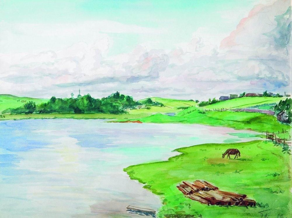 Картинки рисунок река