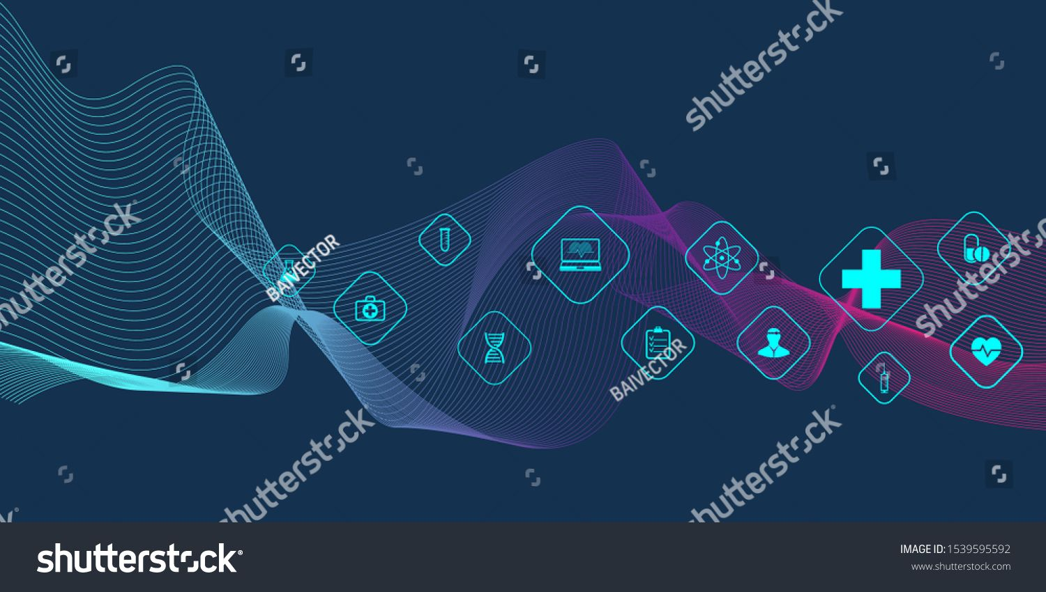 Abstract Health Care Banner Template With Flat Icons Healthcare Medicine Concept Medical Innovation Techno Healthcare Logo Banner Template Technology Posters
