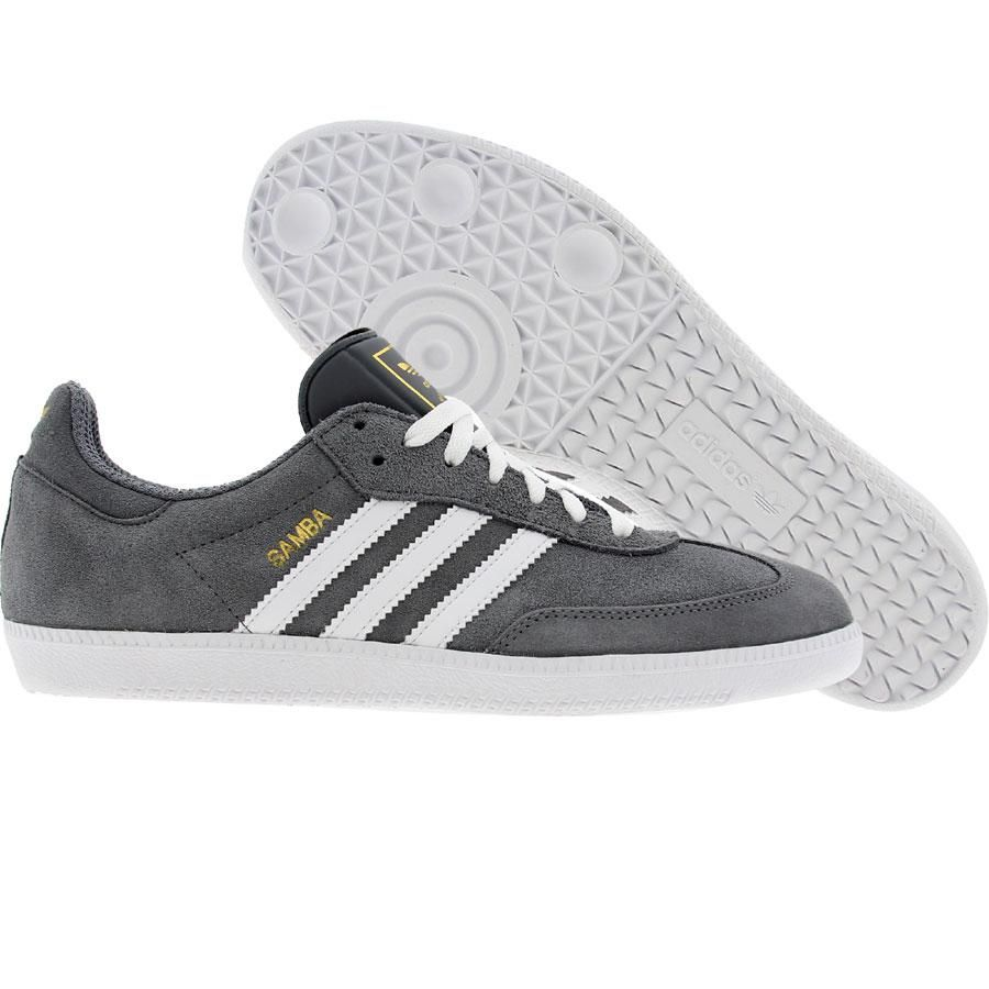 Adidas Samba (medium lead / white / metal gold) G42691 ...