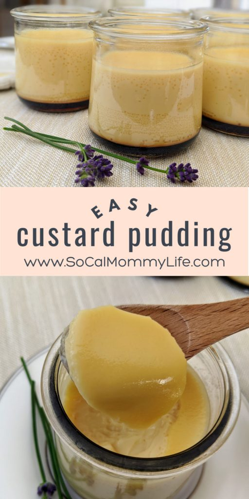 Easy Custard Pudding Recipe Socal Mommy Life Recipe Easy Custard Custard Pudding Pudding Recipes