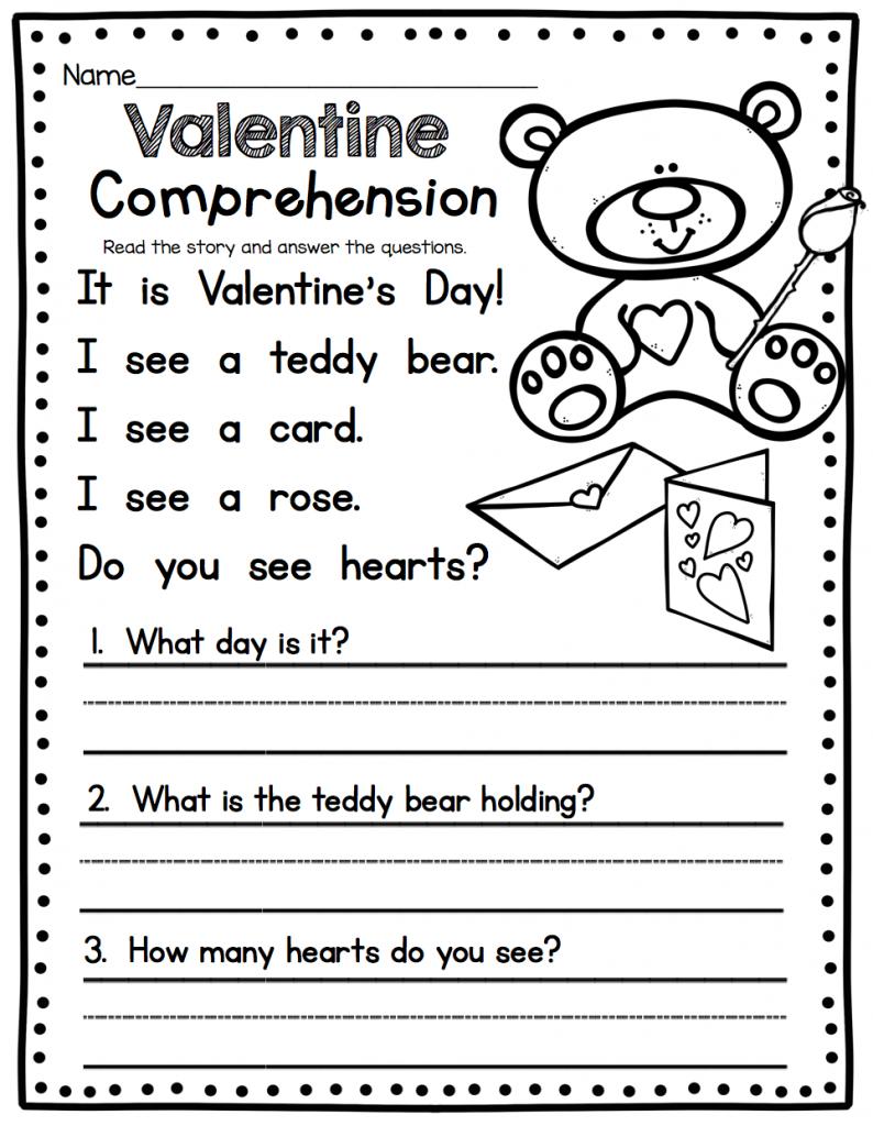 1st Grade English Worksheets Reading comprehension