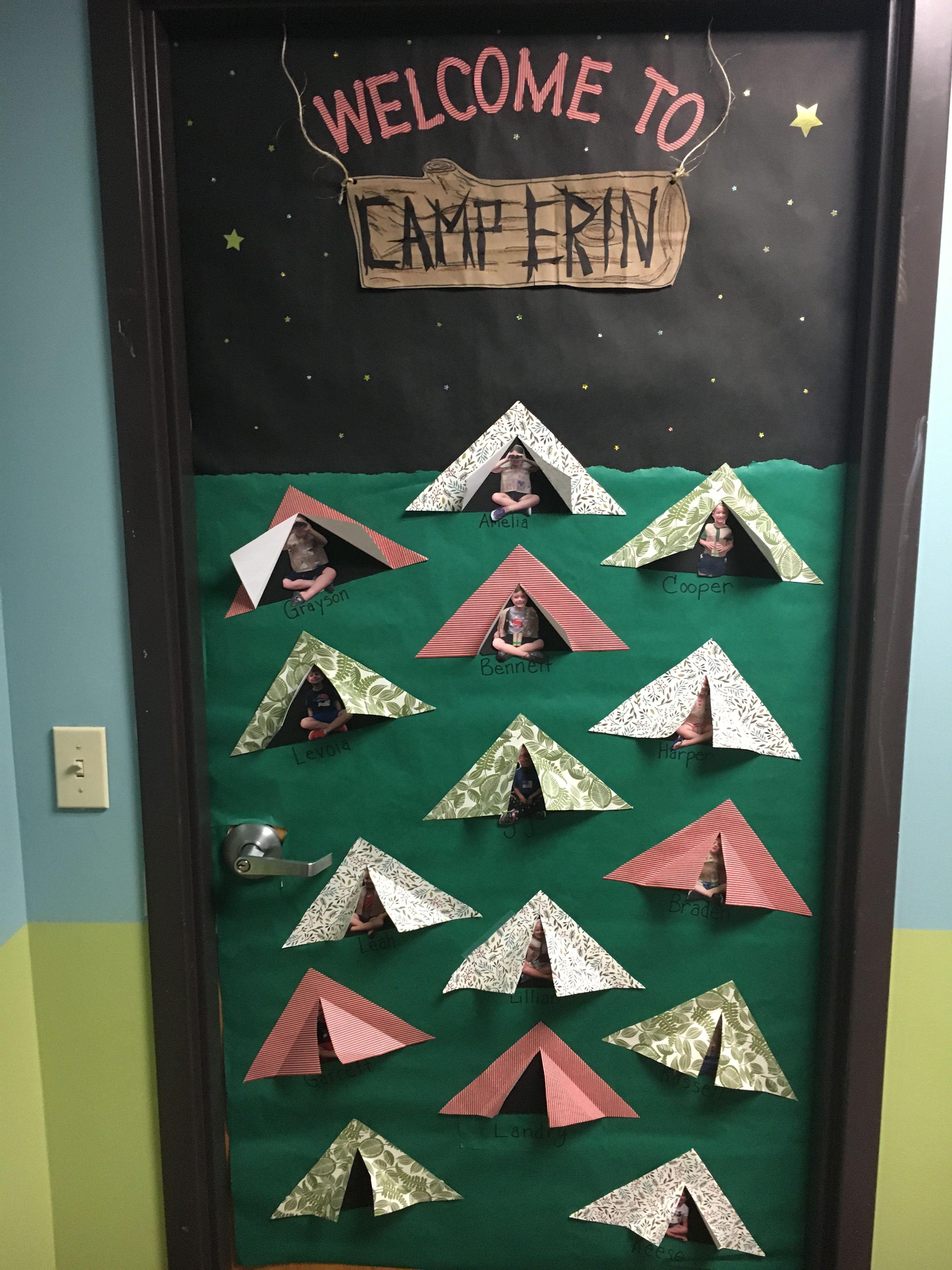 Camp Theme Classroom Camp Door Preschool Door Summer