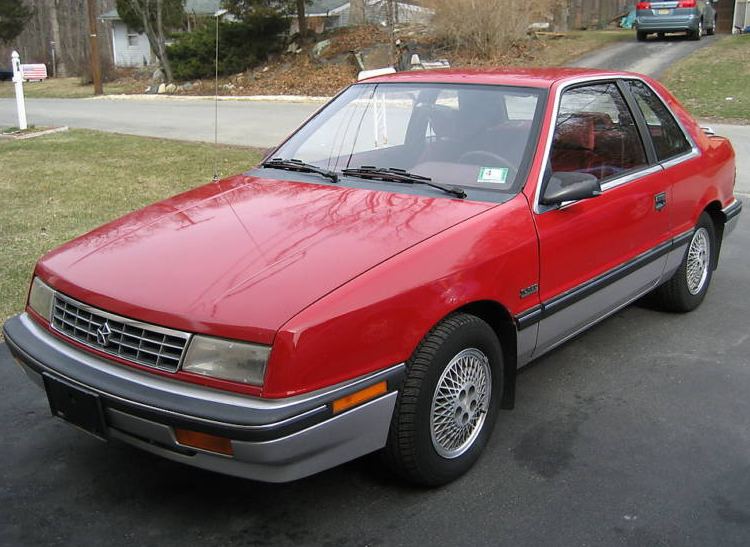 Plymouth Sundance Hatchback Red Color