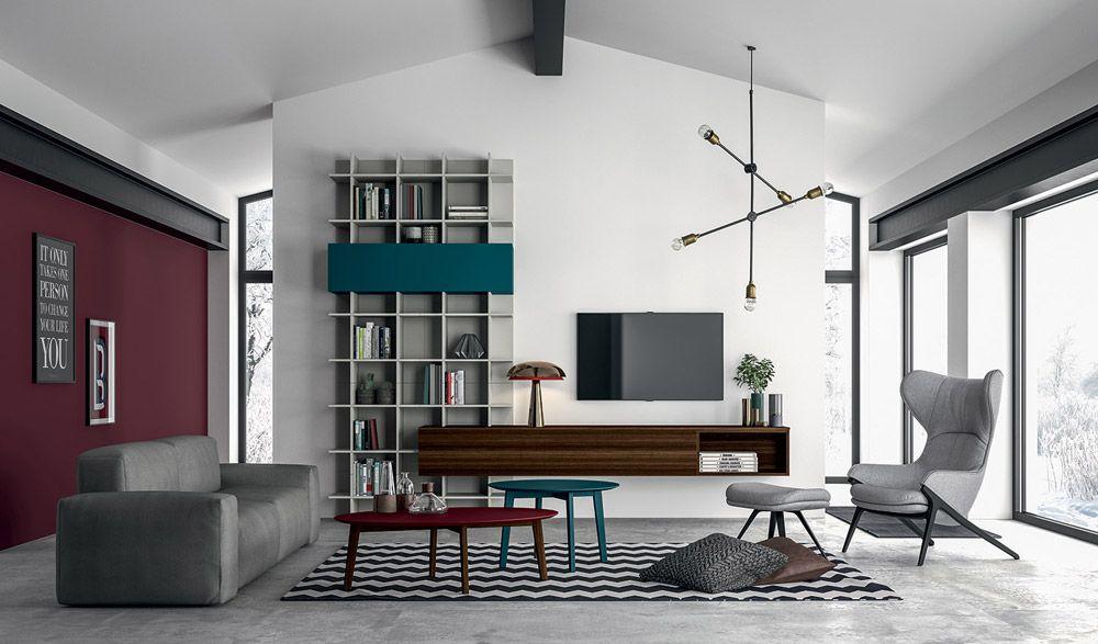 Composizioni soggiorno: Composizione Slim 55 da Dall\'Agnese | Design ...