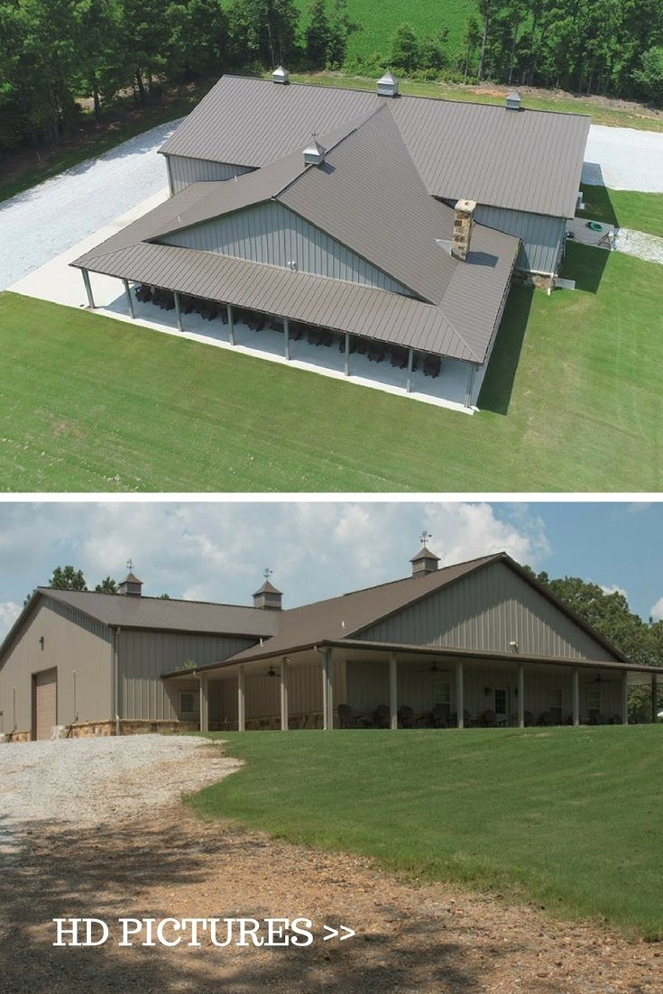 Pictures of metal barn buildings and pics decatur il barnhomes metalbuildingideas rustic homes building also rh pinterest