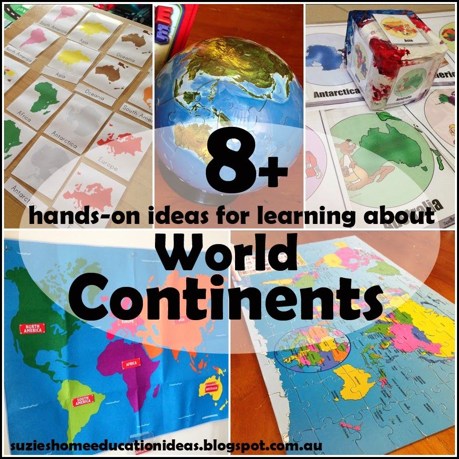 8+ hands-on ideas for learning about World Continents