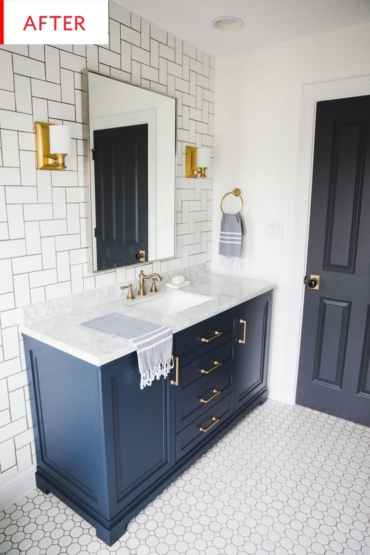 Before and After: A Run-of-the-Mill Bathroom Gets