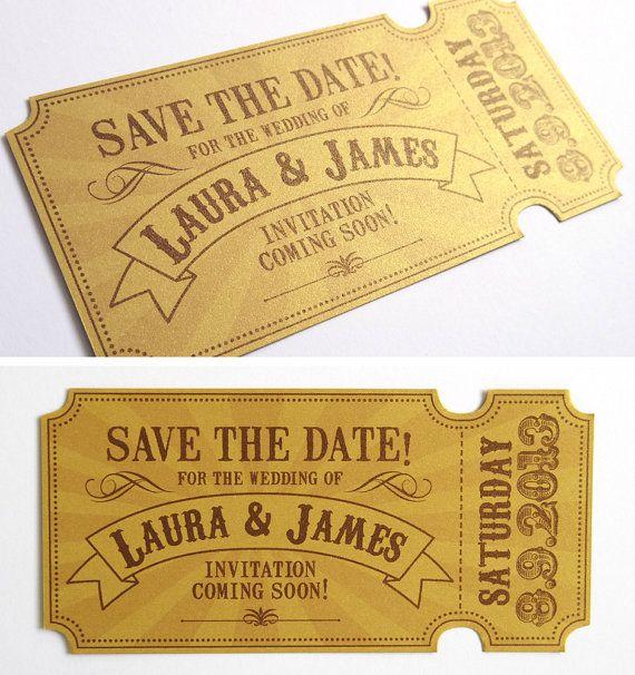 Wedding Invitation Tickets: Circus Ticket Wedding Invitation