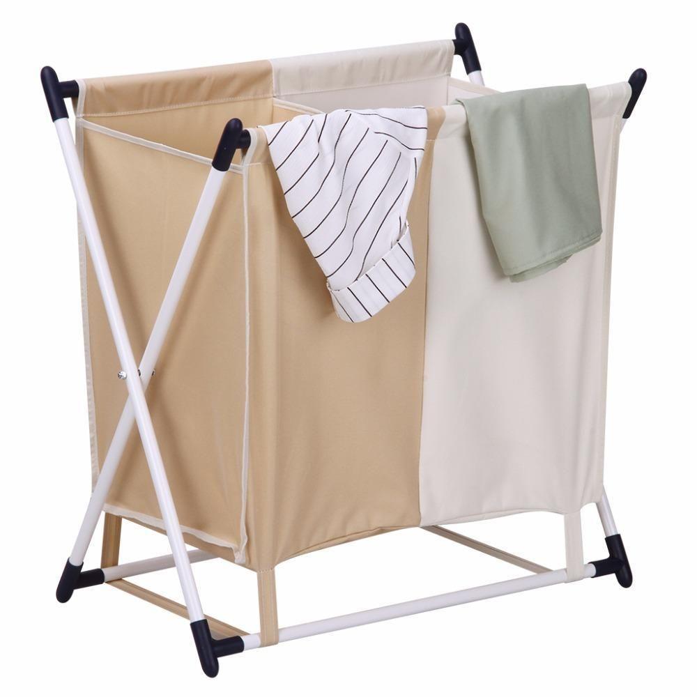 Finether Folding X Frame Laundry Sorter Hamper Stand W Laundry