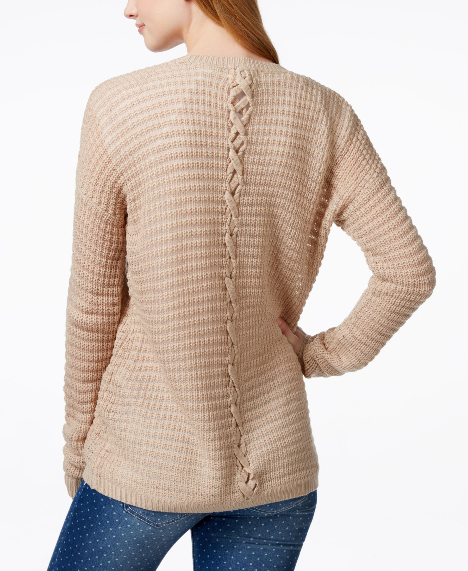Hippie Rose Juniors' Lace-Back Cardigan Sweater | Cardigans For ...