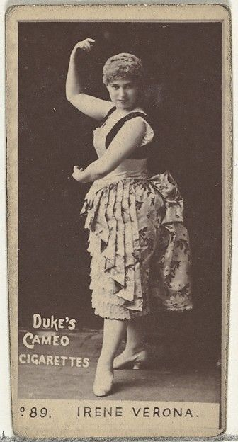 Card Number 89, Irene Verona, from the Actors and Actresses series (N145-4) issued by Duke Sons & Co. to promote Cameo Cigarettes
