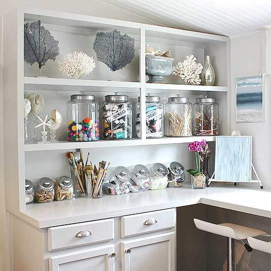 Tips for how to carve out a crafting space in cabinets, closets or a spare room.