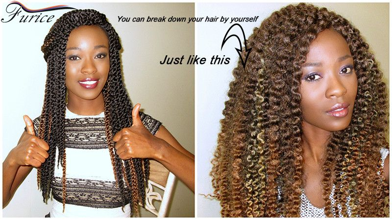 3D Cubic Twist Crochet Braids 1B (With images) Crochet