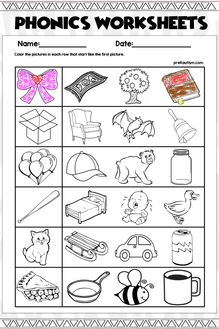 5 99 100 Pages Of Beginning Phonics Activities There Are Five Different Types Of Worksheet Activities For Practicing Phonics Worksheets Phonics Worksheets [ 1104 x 736 Pixel ]