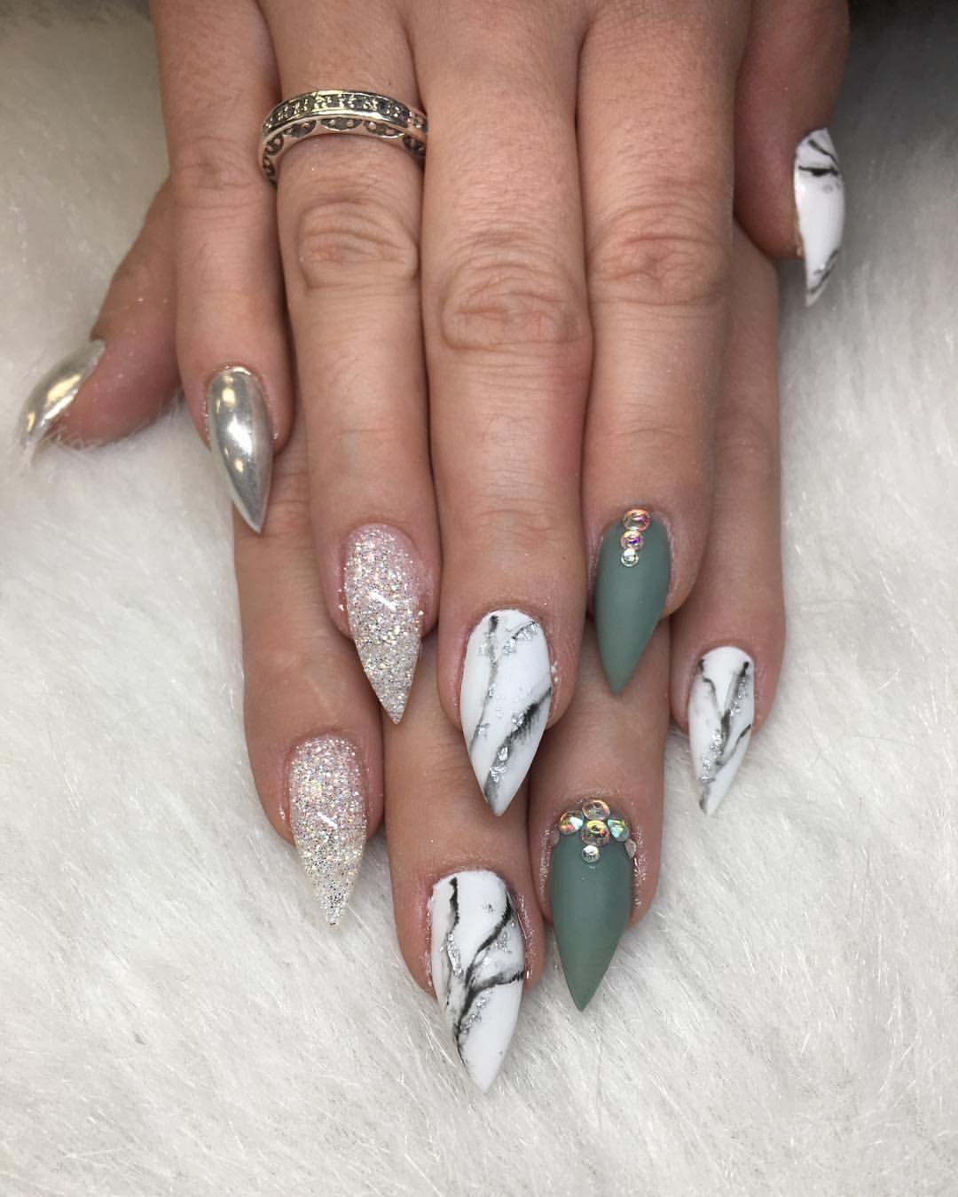 Marble and matte!! #pretty #art #nice #nails #nailart #nicenails ...
