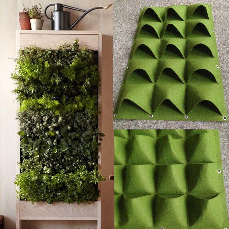 15 Pockets Vertical Greening Hanging Wall Garden Planting