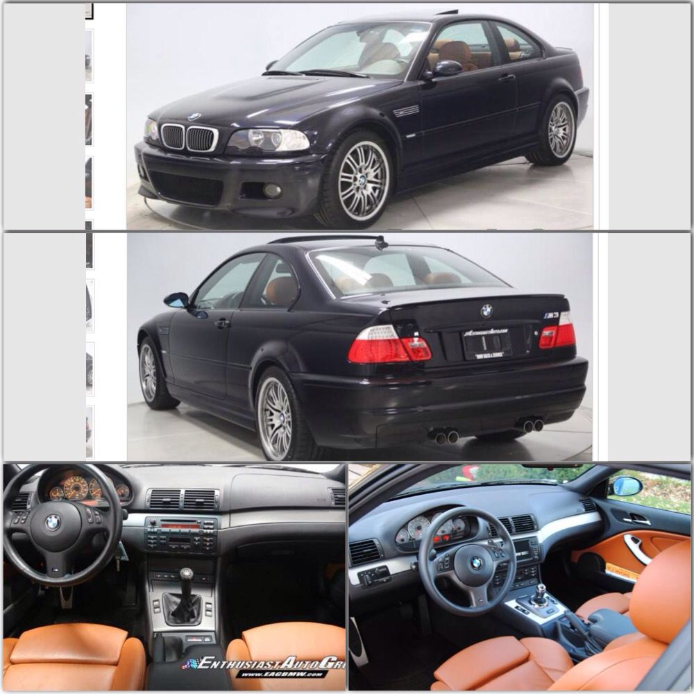 Bmw M3 E46 Carbon Black With Cinnamon Leather The Best Color