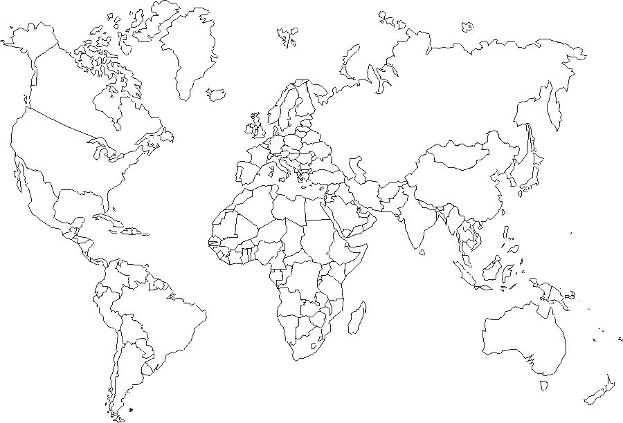 Dynamic image for world map outline printable