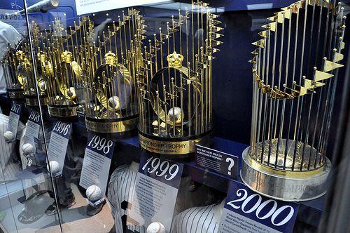 Yankees World Series Trophies Ny Yankees Yankees World