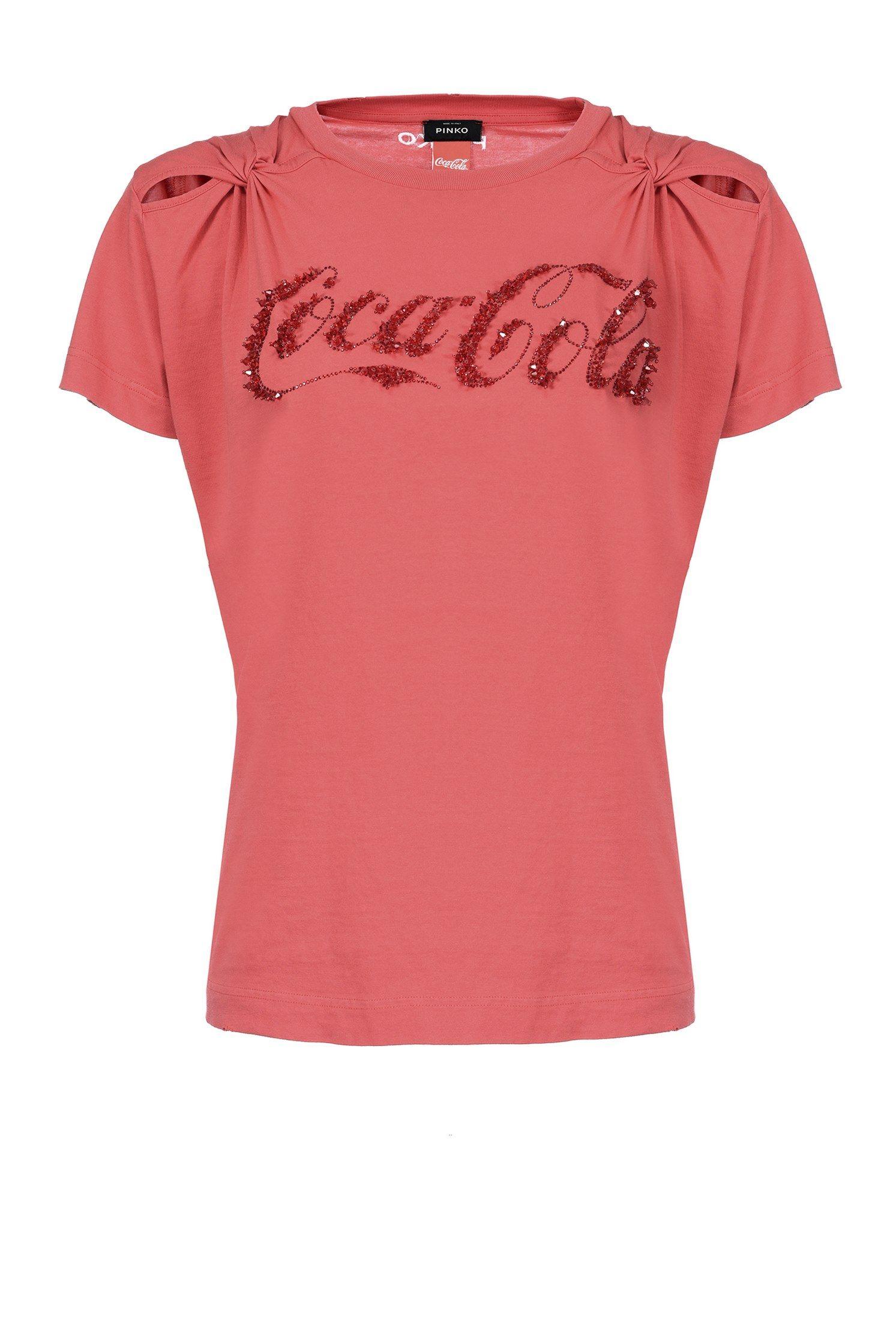Pinko wears Coca Cola! Reinterpretation of the classic cotton T-shirt shown  here with f0c51d38663