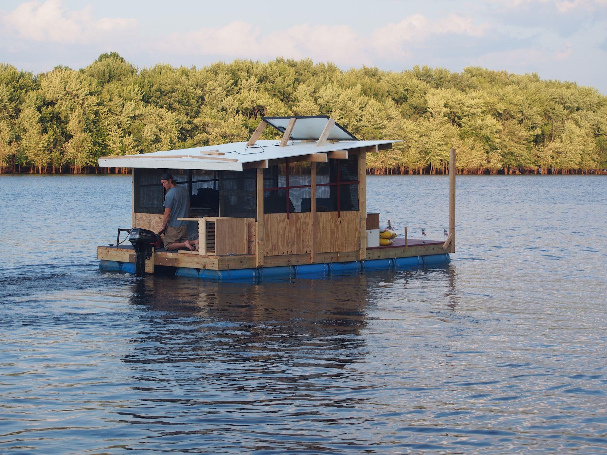 4 Sale Sold Barrel Raft Boys House Boat Shanty Boat