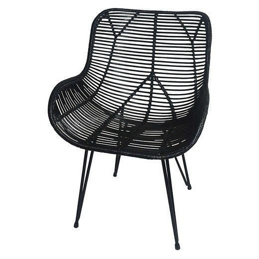 wicker accent chair - black - threshold™ | chairs, target and black