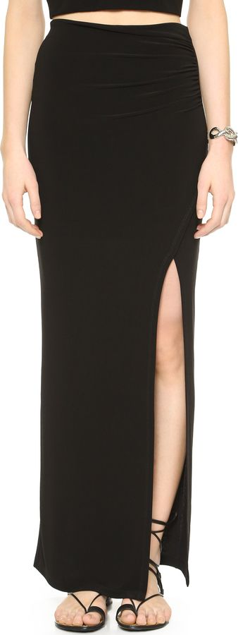 http://www.shopstyle.com/action/loadRetailerProductPage?id=476873622&pid=uid8836-30730094-40   AIR by alice + olivia High Slit Maxi Skirt