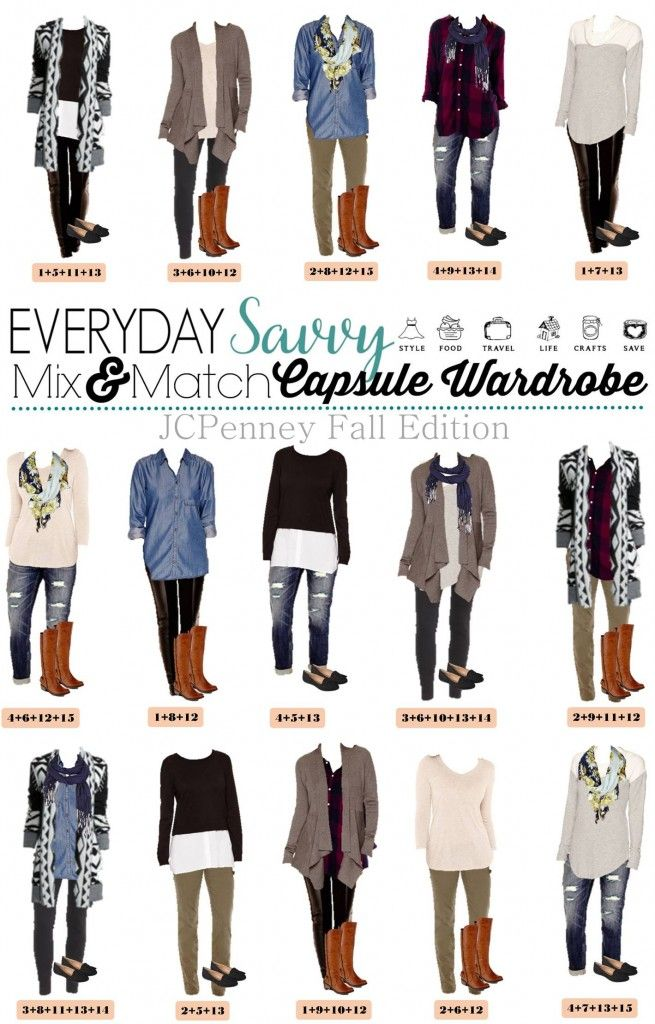 e5b7759faab3e Here is a new JCPenney capsule wardrobe for Fall. This isn t a true a  capsule wardrobe in that is covers all occasions but these mix and match  outfits will ...