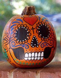 day of the dead pumpkin | Dia De Los Muertos | Pinterest