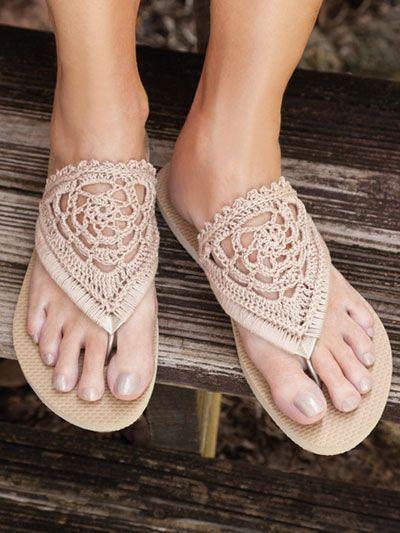 Photo of SIGNATURE DESIGNS: Fancy Flip-Flops Crochet Pattern   – My designs #womanslipper…
