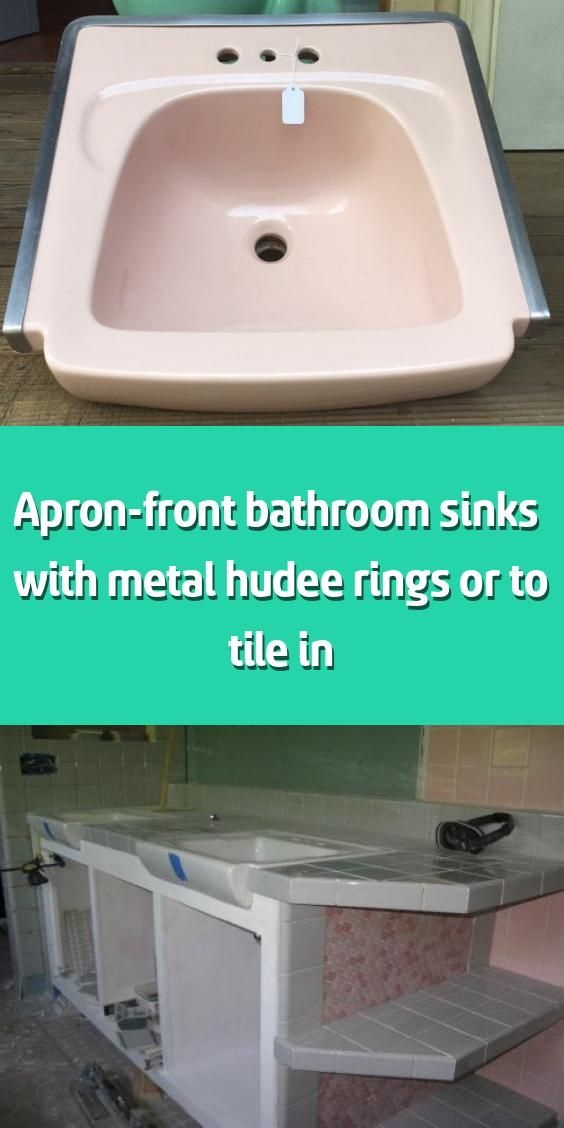 Photo of Wash basin on the front apron & with metal Hudee rings or for tiling – if …