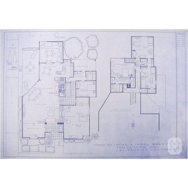 The Brady Bunch House Blueprints House Floor Plans House Flooring