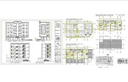 Modern Multi Family House Plans In Cad Dwg Files