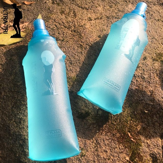 TPU Sport Soft Water Bottle Folding Flask For Running Hiking Cycling Marathon