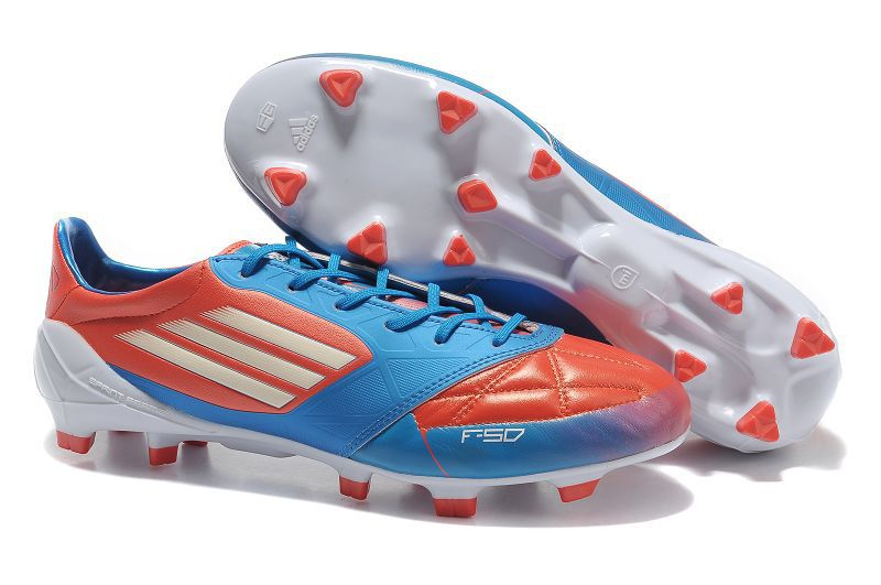 Adidas F50 Adizero miCoach LEO Messi Ballon D OR Red Blue White Soccer  Cleats