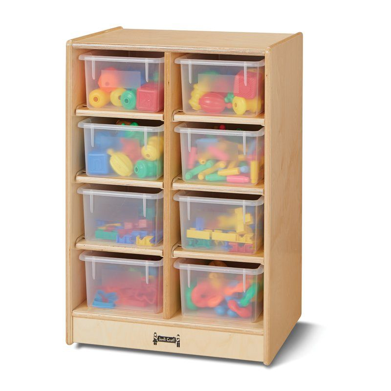 Jonti Craft 8 Compartment Cubby With Wheels Wood Storage Cabinets Classroom Storage Wood Storage